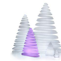 Sapin design lumineux CHRISMY hauteur 1m Vondom, lumière LED RVB avec lampes sapins de hauteurs variées