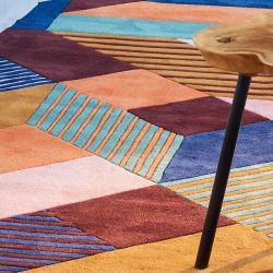 Détail matière et couleur du tapis en laine ESCALA Toulemonde Bochart