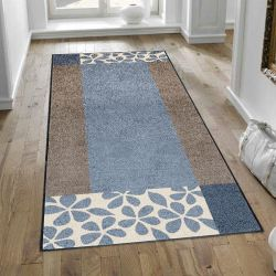 Tapis lavable FLORITA GREY Wash and Dry 75 x 190 cm