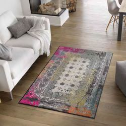 Tapis lavable TAZA PINK Wash and Dry 115 x 175 cm