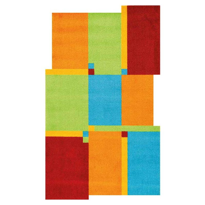 Tapis LIVING SQUARE multicolore Wash and Dry 70 x 120 cm