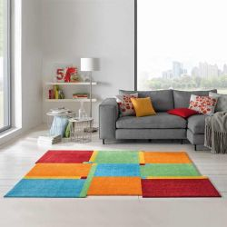 Tapis de salon lavable LIVING SQUARE Wash and Dry multicolore