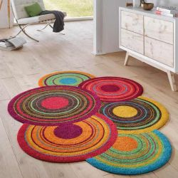 Tapis lavable COSMIC COLOURS multicolore Wash and Dry 140 x 200 cm