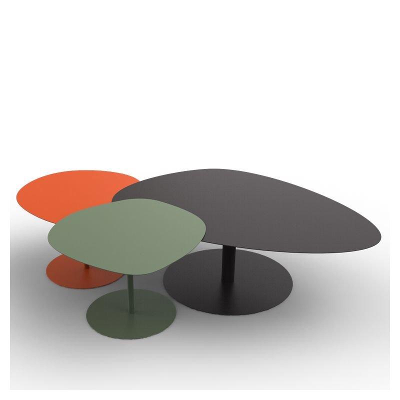 Table basse indoor outdoor galet xl mati re grise - Carte grise 3x sans frais ...