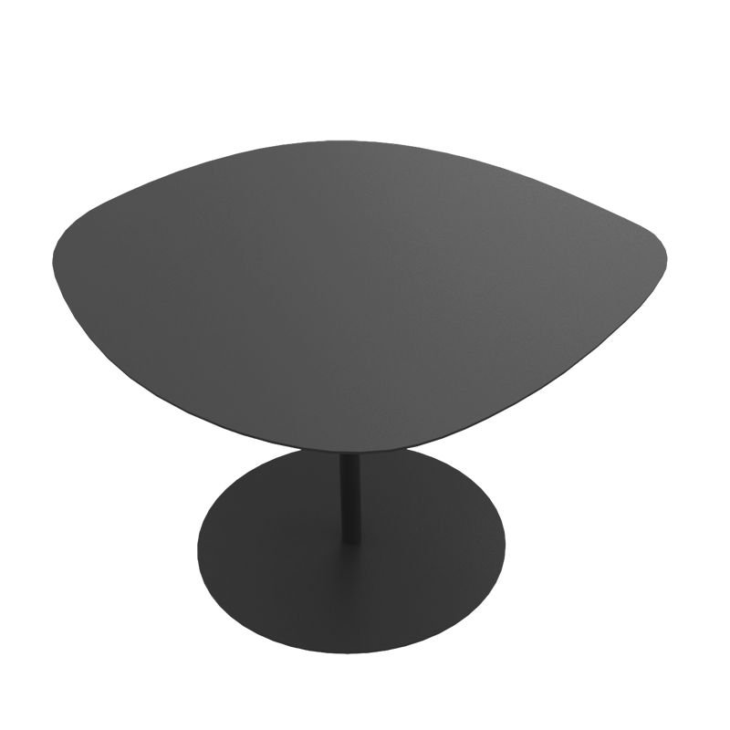 Table basse acier / alu 3 Galets Matière Grise