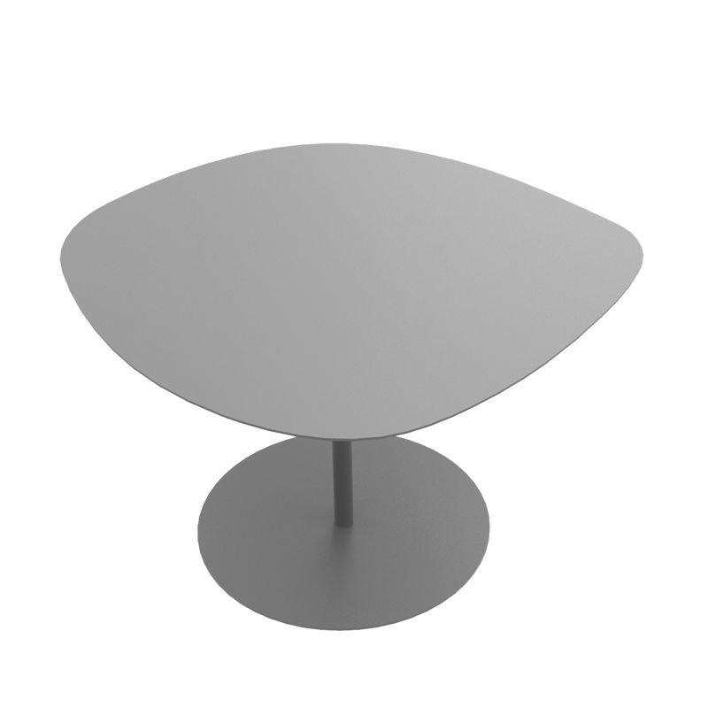 table basse acier alu 3 galets mati re grise. Black Bedroom Furniture Sets. Home Design Ideas