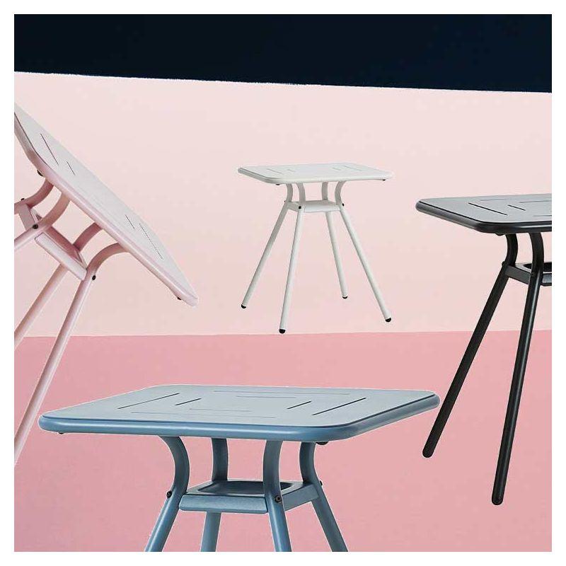 Ray Cafe carrée, petite table de jardin Woud aluminium