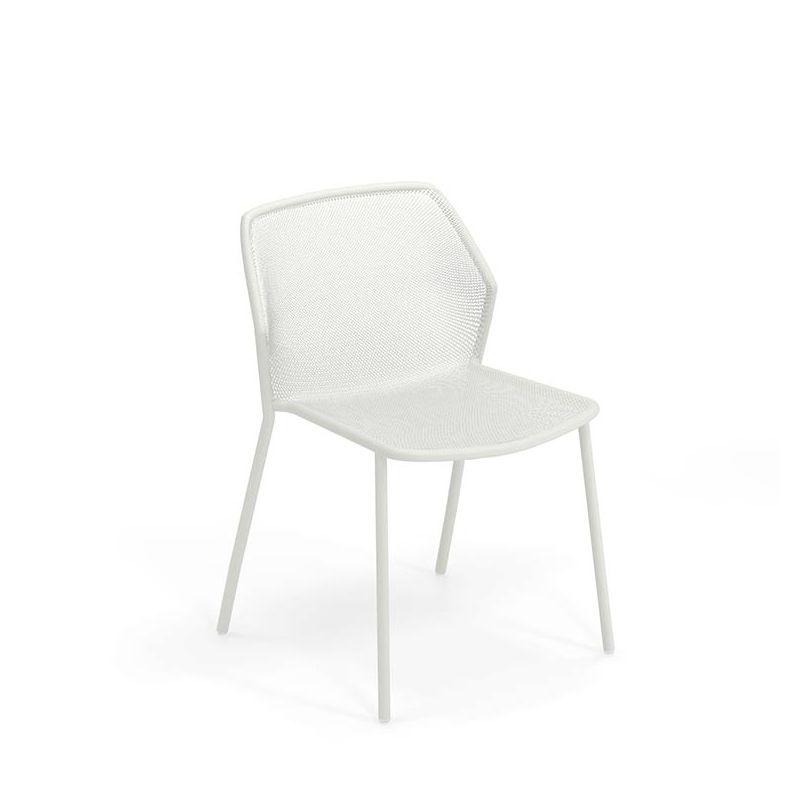 Darwin, chaise jardin Emu empilable acier 7 couleurs