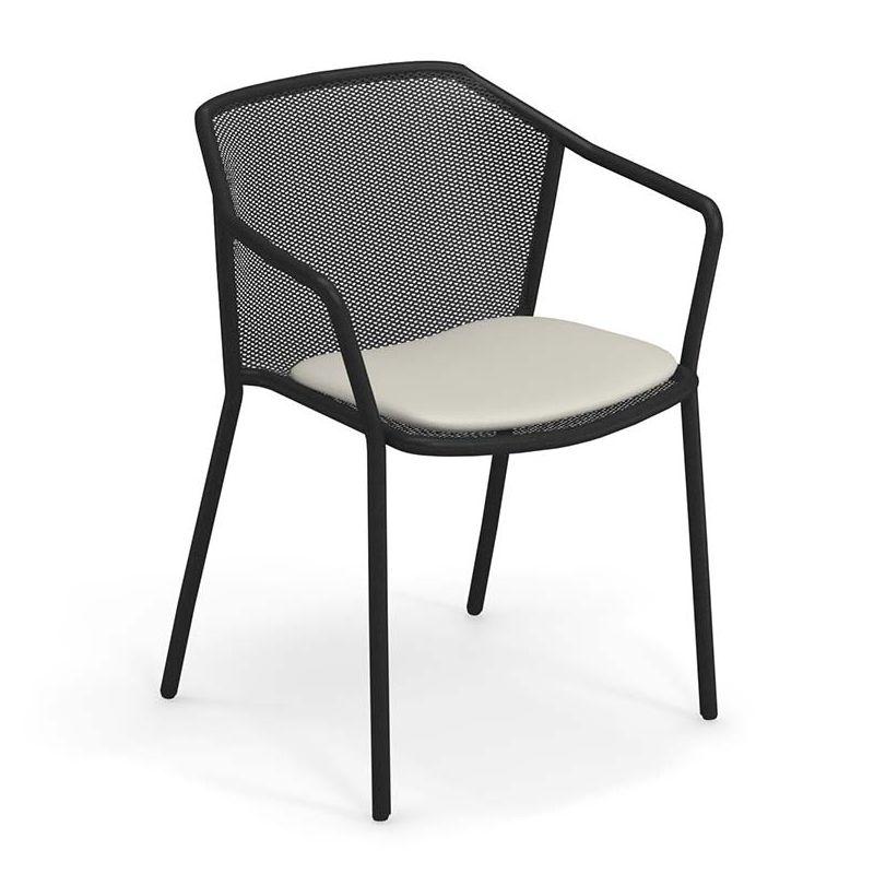 Darwin, fauteuil outdoor empilable Emu en métal coloré