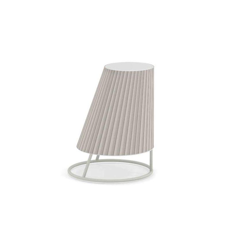 Lampe extérieur LED sans fil CONE SMALL Emu, abat-jour plissé beige