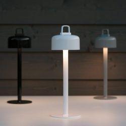 Lampes LED sans fil LUCIOLE 2 en 1 Emu, blanche, noire et aluminum