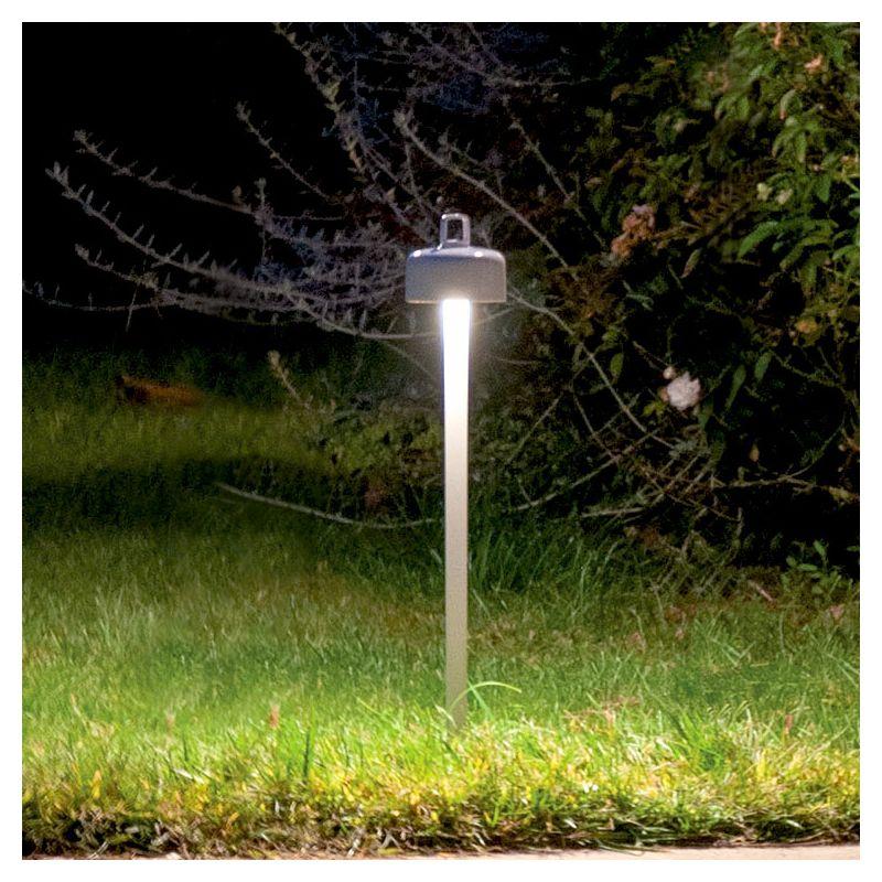 Borne lumineuse LED sans fil piquet 53 cm LUCIOLE 3 en 1 Emu