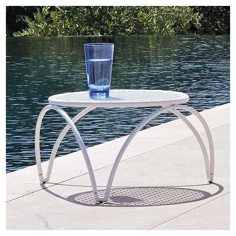 Table basse de jardin VERA Emu plateau ajouré Ø 44 cm