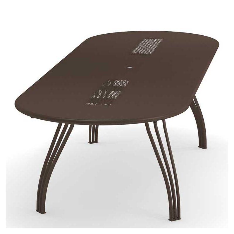 Table jardin extensible ovale VERA Emu 300cm en métal