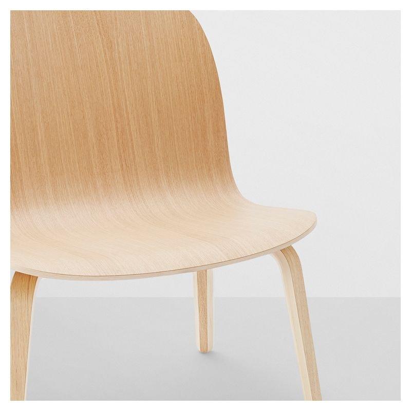 Fauteuil lounge design en bois Visu Muuto