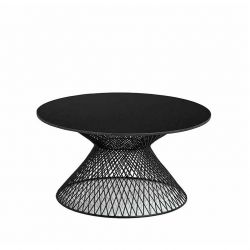 Table basse ronde plateau granit WIRE CROSS Pols Potten