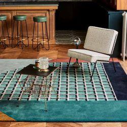 Tapis RIMINI collection Access Toulemonde Bochart, coloris Turquoise