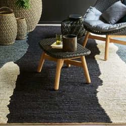 Tapis CLAIR OBSCUR Noir & Blanc, collection Designers Toulemonde Bochart