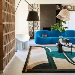 Détail motif et matière du tapis SONIA, collection Designers Toulemonde Bochart