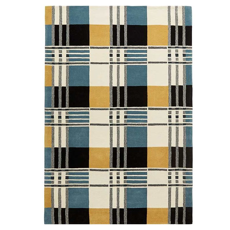 Tapis laine bio TARTAN Pastel, collection Organic Toulemonde Bochart