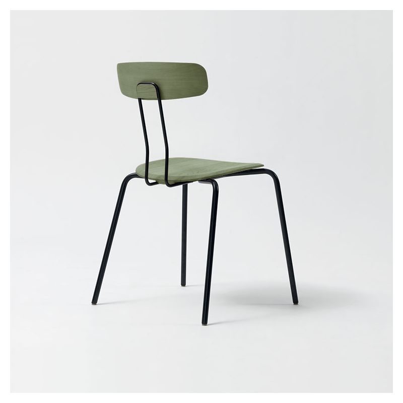 Chaise chêne teinté OKITO Zeitraum, sauge