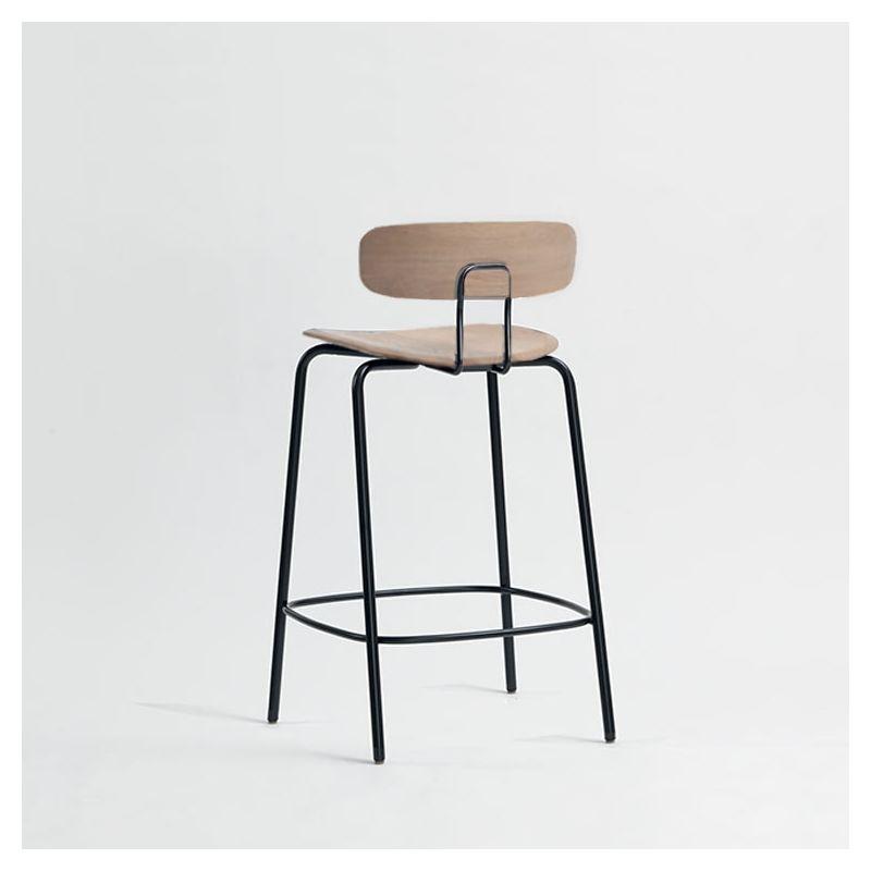 Chaise de bar chêne massif assise 65 cm  OKITO BAR Zeitraum, dossier bas