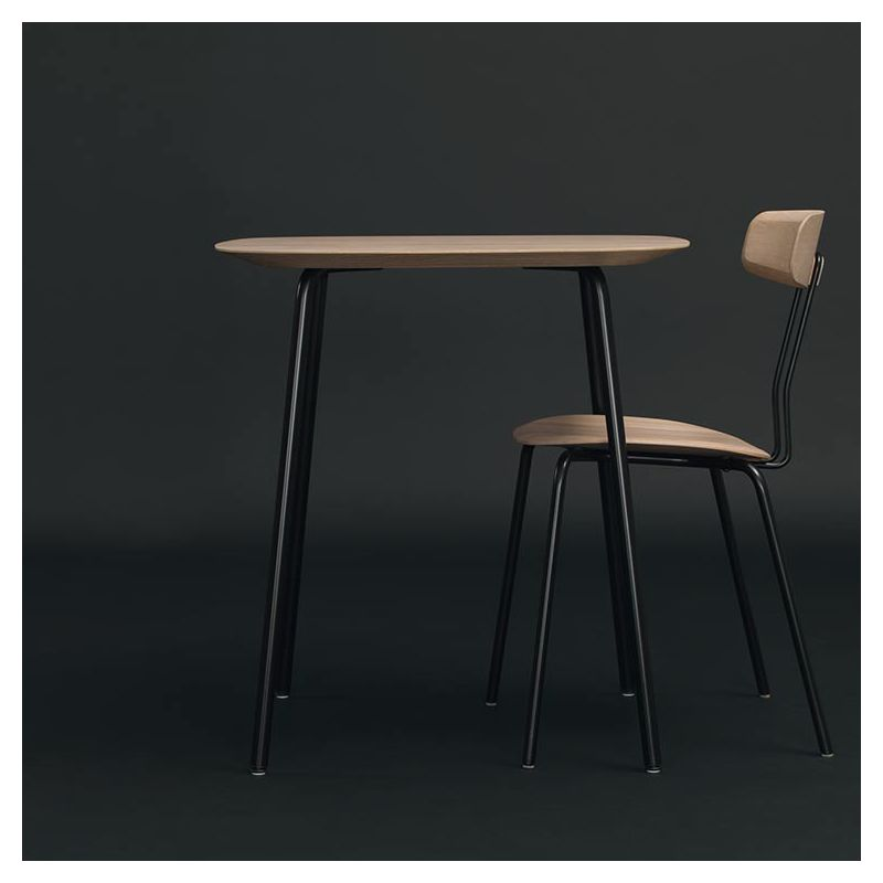 Table carrée OKITO TABLE Zeitraum, plateau en chêne massif