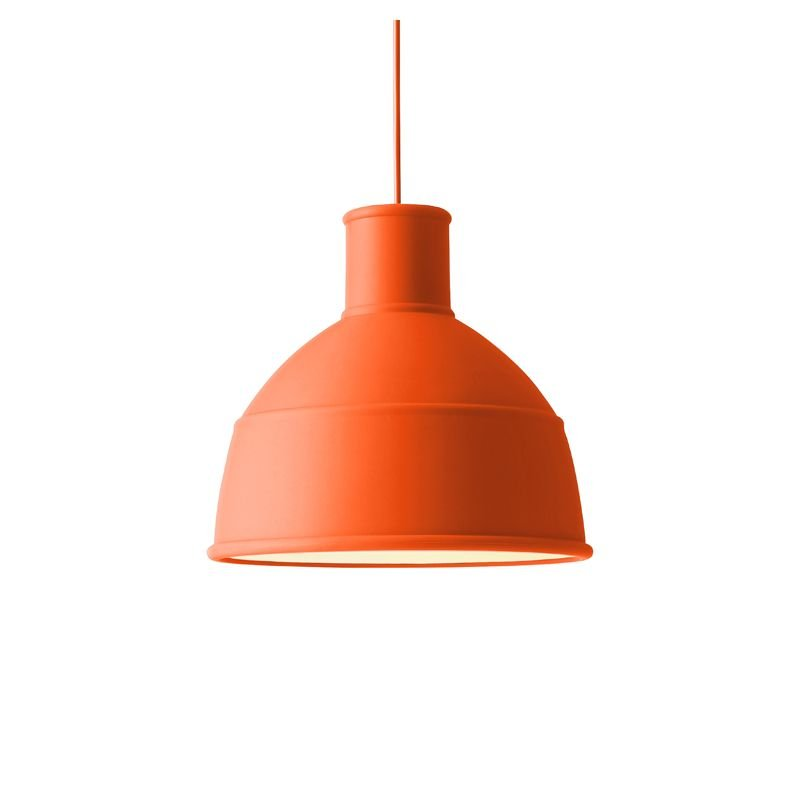 Suspension design en silicone UNFOLD orange Muuto