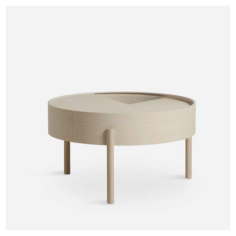 Table basse ARC Woud, frêne blanchi
