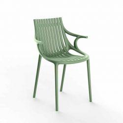 Chaise à accoudoirs outdoor IBIZA Vondom, coloris vert pickle