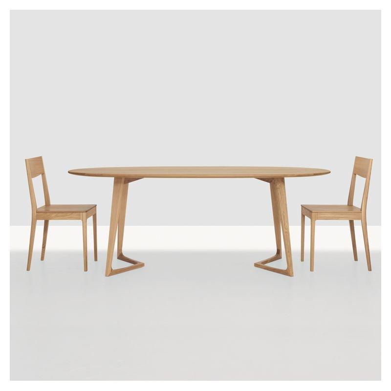 Table De Repas Ovale Design Bois Massif Twist Zeitraum