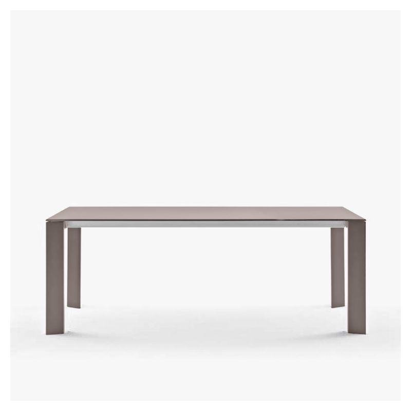 Table extensible aluminium 160/210 cm GRANDE ARCHE Fast, coloris taupe