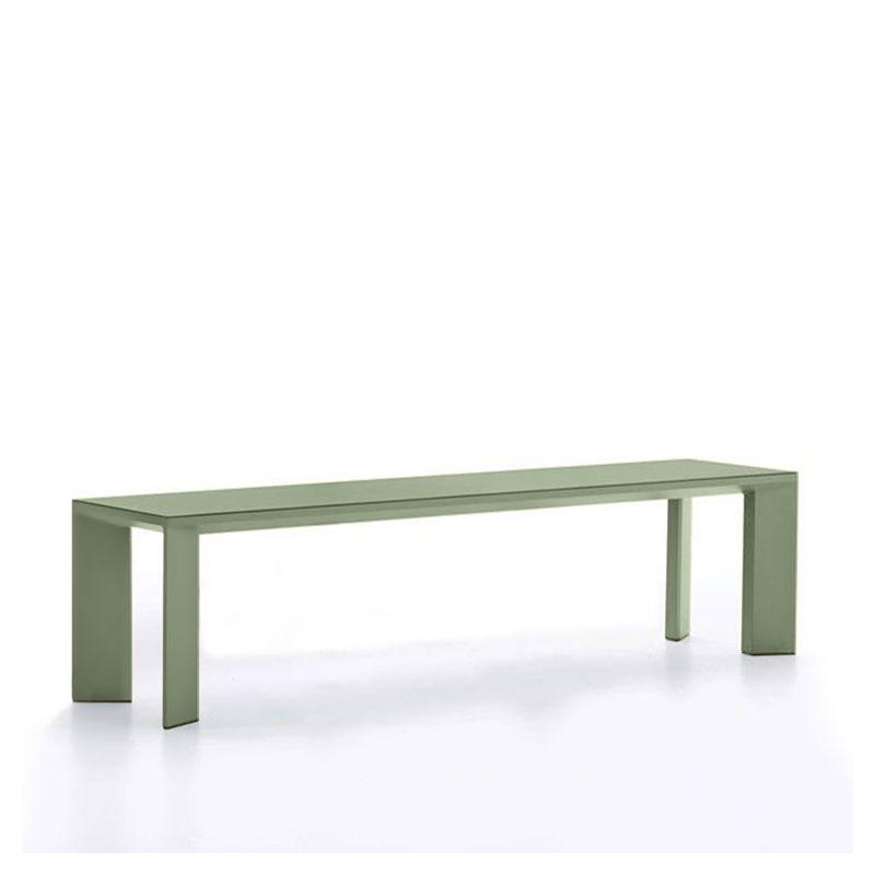 Banc aluminium 180 cm GRANDE ARCHE Fast, thé vert