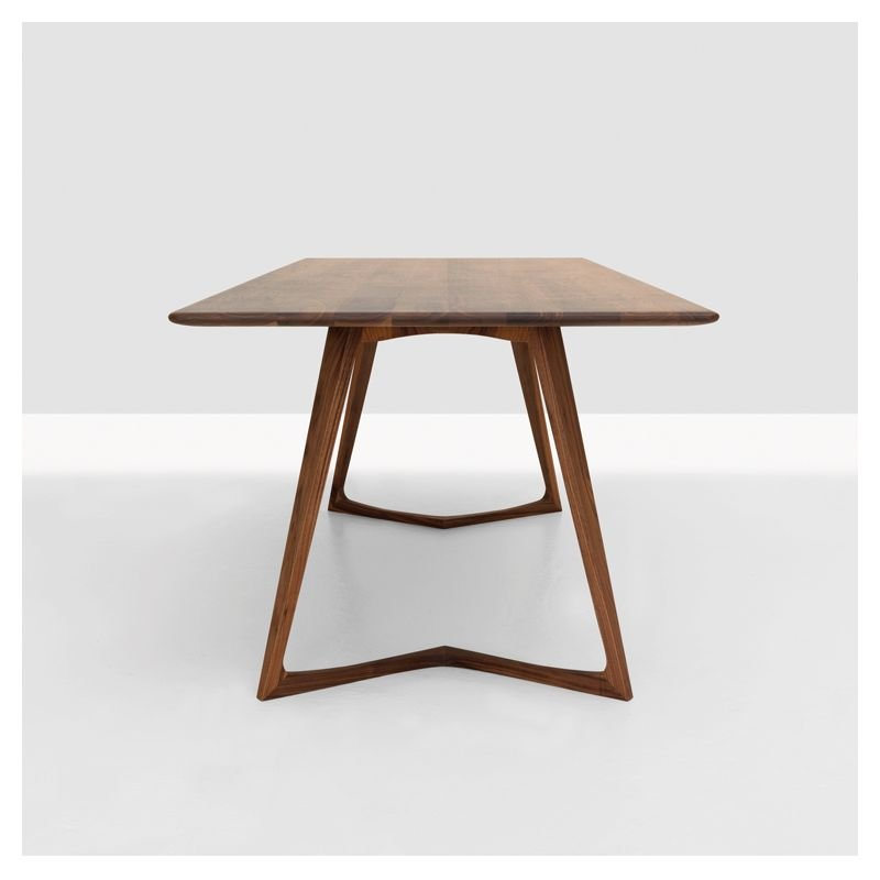 Twist table repas rectangulaire design bois massif zeitraum - Table rectangulaire design ...