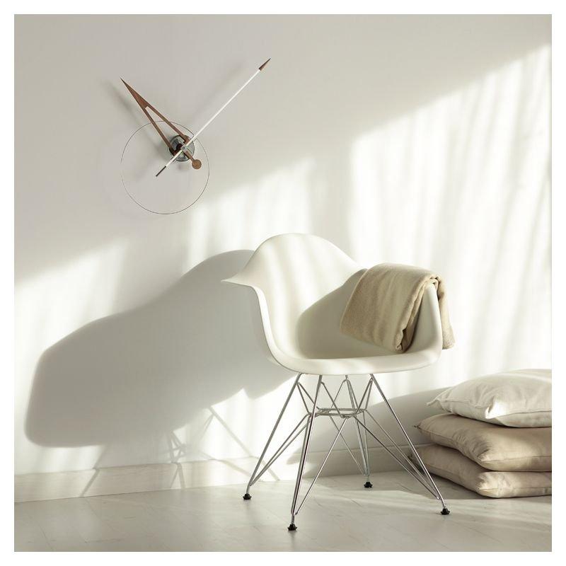good horloge murale cris aiguille fibre de verre blanche pointe noyer nomon with grosse horloge. Black Bedroom Furniture Sets. Home Design Ideas