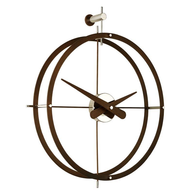 Dos puntos horloge design nomon 43 acier ou bois for Horloge design bois