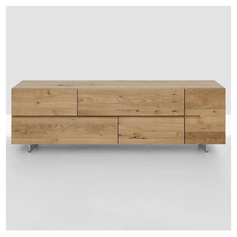 Low buffet bas design bois massif zeitraum for Buffet bas design
