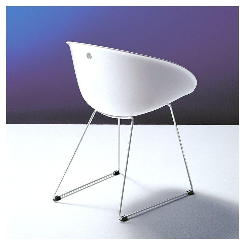 Gliss 920 chaise coque pieds luge pedrali for Chaise pedrali