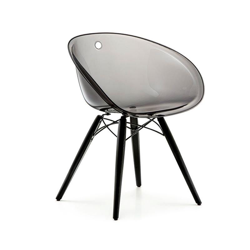 Gliss 905 chaise coque pieds en bois pedrali for Chaise pedrali