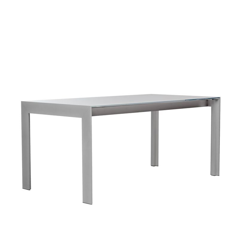 Matrix table extensible design pedrali verre bois - Table extensible verre ...