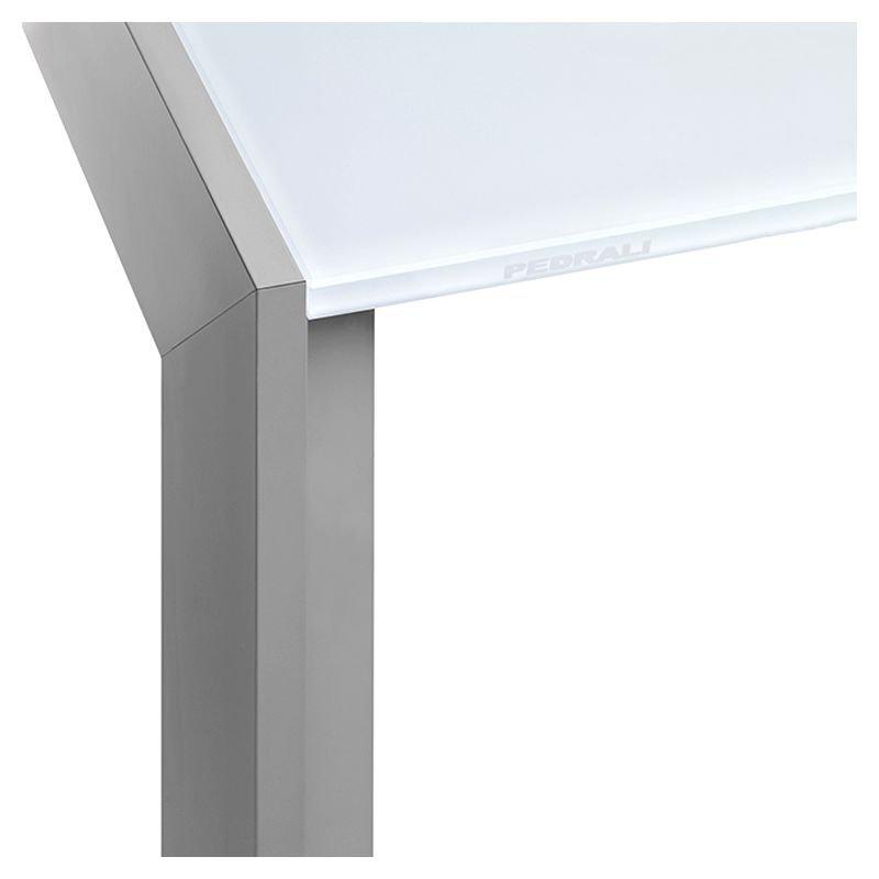 Matrix table extensible design pedrali verre bois - Table extensible verre ...