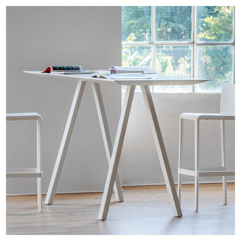 Arki table haute pedrali table bar bureau design for Table haute type bar