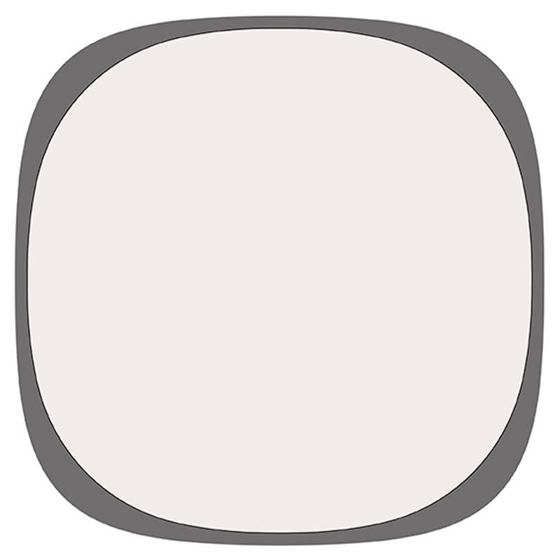 Tapis outdoor gris/blanc UFO Vondom