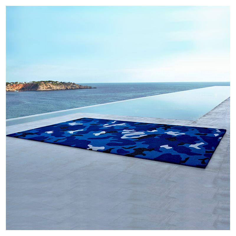Tapis outdoor bleu CAMO Vondom