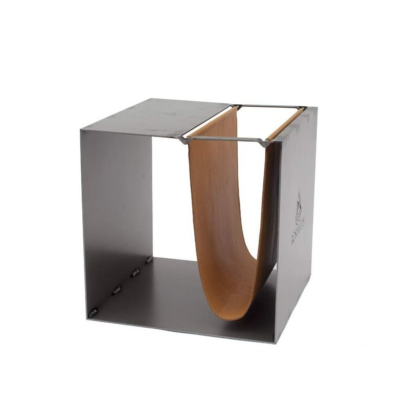 Broome table d 39 appoint r shults avec porte revue cuir for Porte revue salon