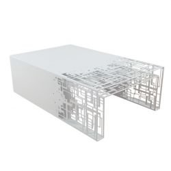 Table basse outdoor & 2 gigognes blanches CUBICAL Coco & Co