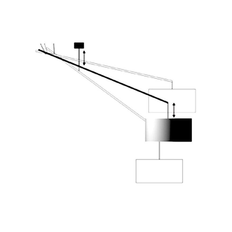 Newton suspension d port e coco co design f fraysse for Luminaire suspension deportee