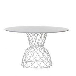 Table ronde blanche Ø 130 RE-TROUVÉ Emu