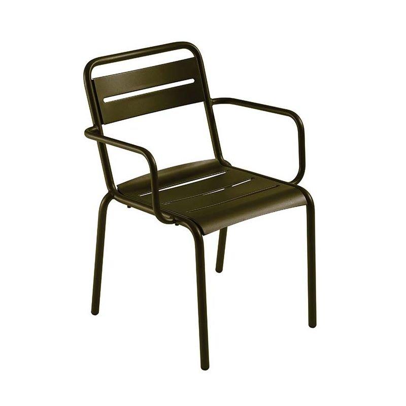 Star, fauteuil de jardin Emu empilable métal 11 coloris