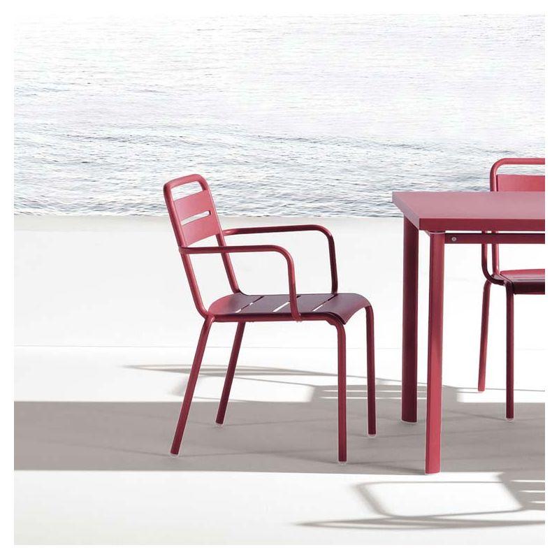 star fauteuil de jardin emu empilable m tal 11 coloris. Black Bedroom Furniture Sets. Home Design Ideas
